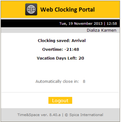 Web Clocking System